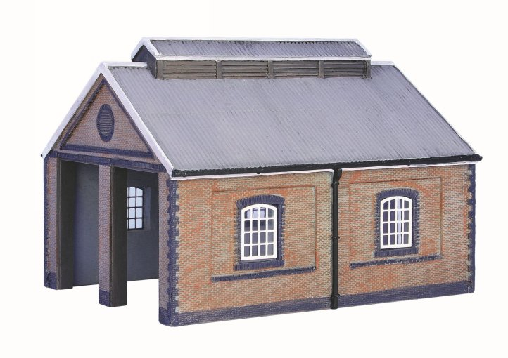 42-0001 Graham Farish Scenecraft Two Road Brick Engine shed