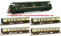 32-066ZPACK Bachmann Class 43 Warship Diesel Locomotive + Cornish Riviera Coach Pack