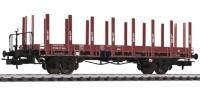 L235040 Liliput Flat Wagon SBB Epoch IV With Wood Stanchion