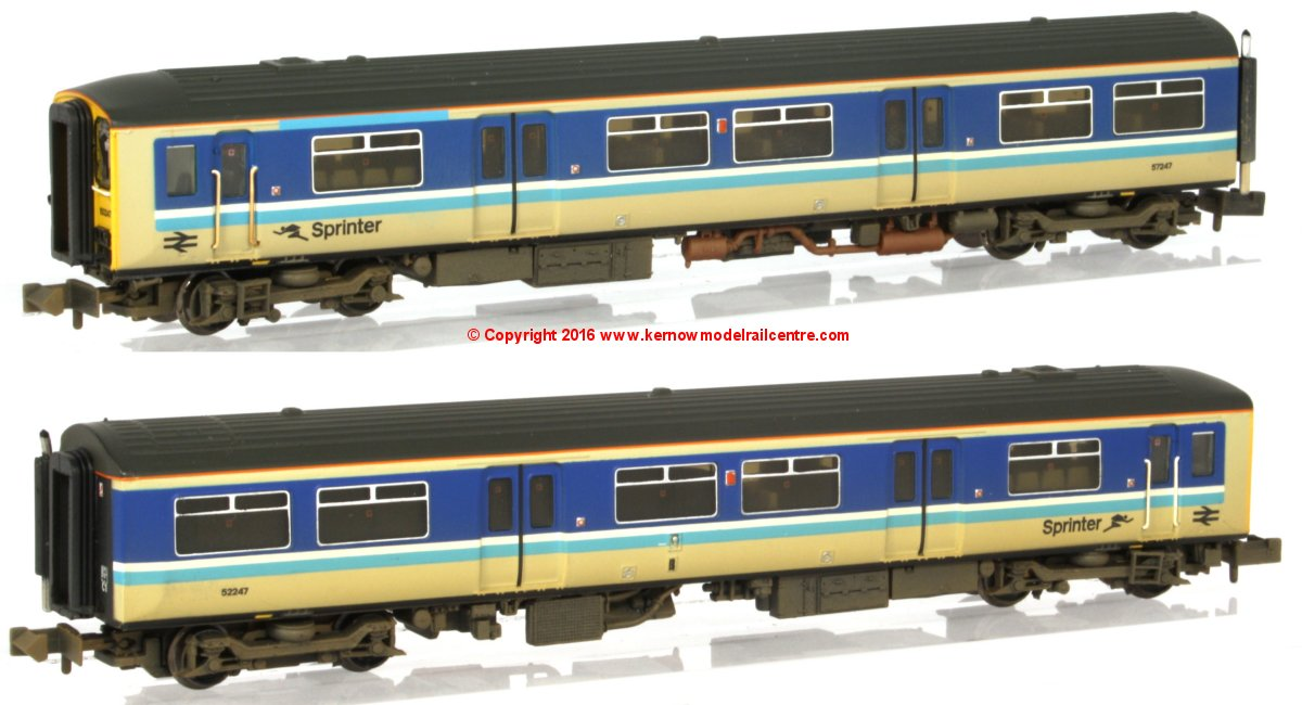 371-329 Graham Farish Class 150/2 2 Car Sprinter DMU number 150 247 in BR Provincial livery with weathered finish