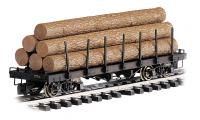 "98470 Bachmann ""G"" Flat car with logs - painted unlettered"