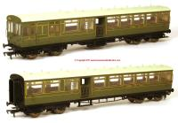 K1001 DJ Models 1914 LSWR Push-Pull Gate Set number 374 in SR Lined Maunsell Green livery
