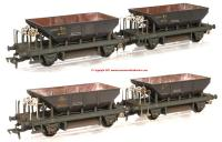 K4101 Heljan Dogfish Exclusive Pack of 4 - BR Black weathered