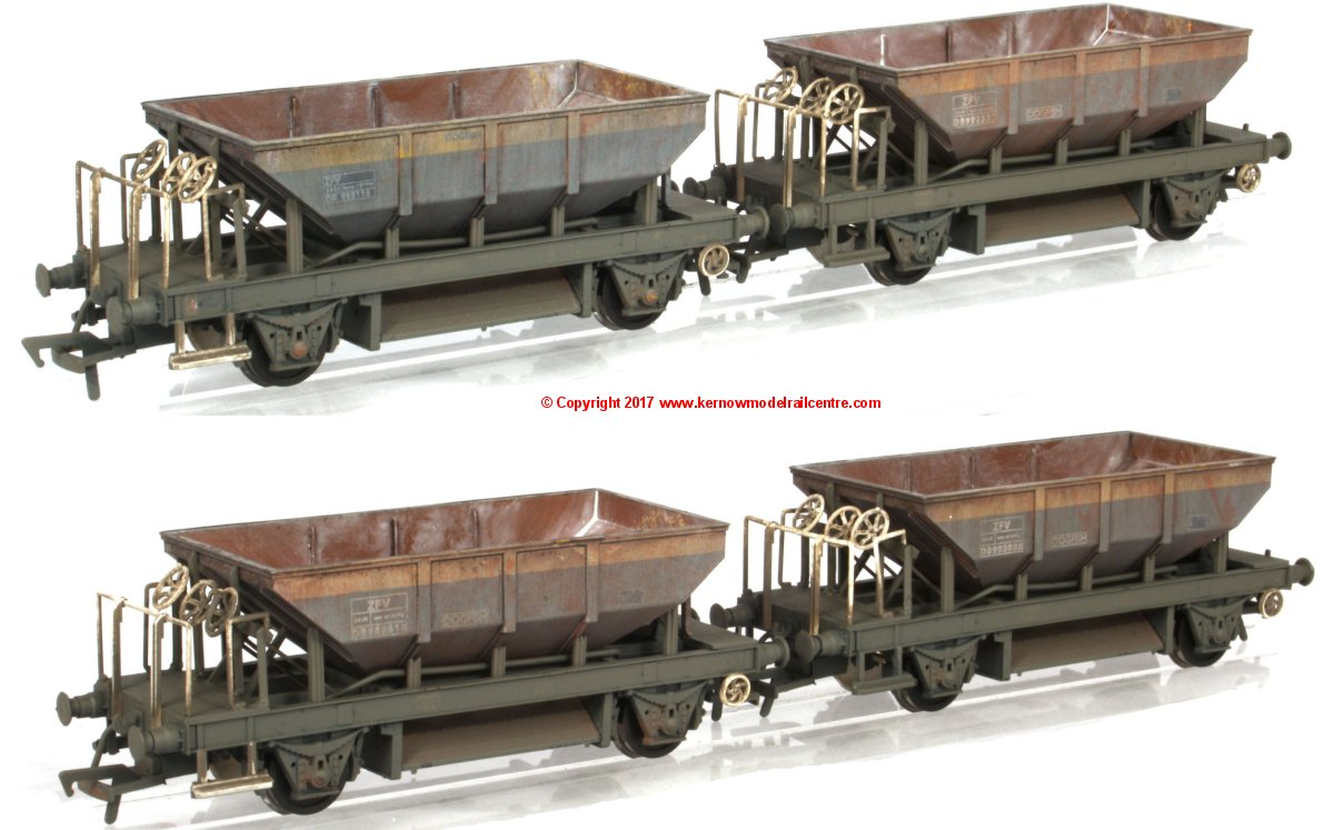 K4103 Heljan Dogfish Exclusive Pack of 4 - BR Civil Engineers Dutch weathered