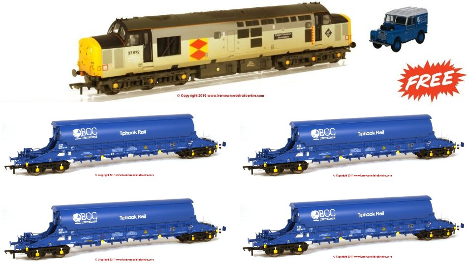 K9999A Kernow PBA Tiger and Class 37 Pack with FREE Landrover