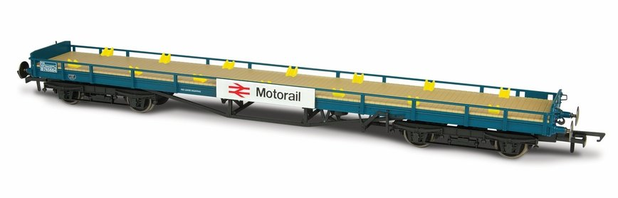 76CAR003 Oxford Rail Car Flat Motoral Image