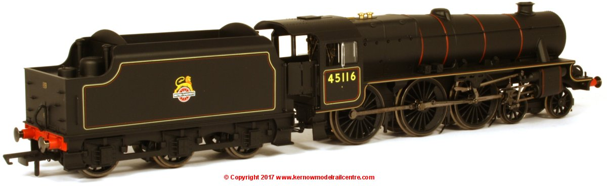 R3385TTS Hornby Black 5 Class 5MT Steam Locomotive number 45116 in BR Black livery with early emblem and with TTS Sound