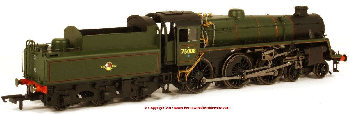 R3547 Hornby Standard 4MT Steam Locomotive number 75008 in BR Green livery with Late Crest