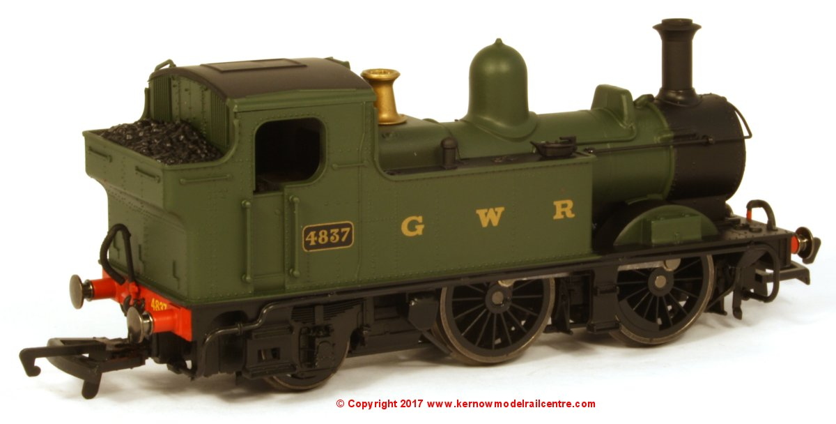 R3589 Hornby Railroad Class 14xx Steam Locomotive number 4837 in GWR Green livery