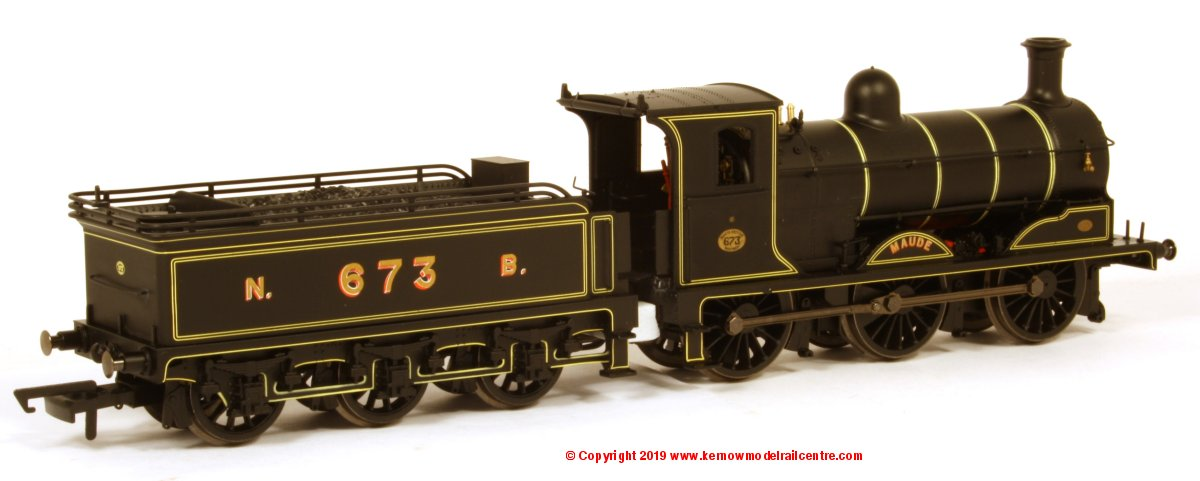 "R3600TTS Hornby NBR J36 Class Steam Locomotive 0-6-0 number 673 named ""Maude"" in North British Black livery"