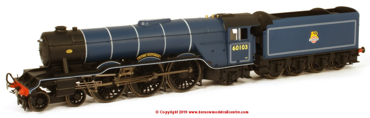 "R3627 Hornby A3 Class 4-6-2 Steam Locomotive number 60103 named ""Flying Scotsman"" in BR Blue livery with early emblem"