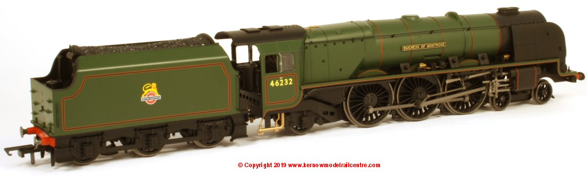 "R3642 Hornby Princess Coronation Class Steam Locomotive number 46232 named ""Duchess of Montrose"" in BR Green E/E livery"