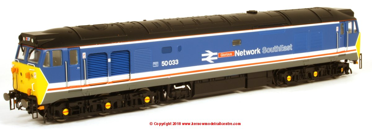 "R3658 Hornby Class 50 Diesel Locomotive number 50 033 named ""Glorious"" in Network South East livery"