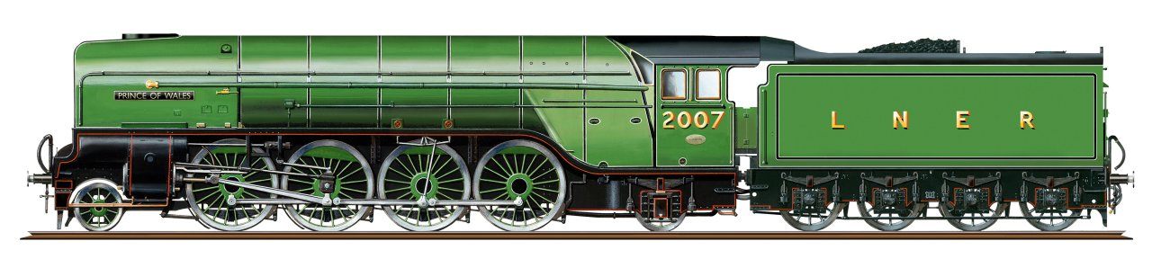 R3983 Hornby P2 2-8-2 Steam Loco number 2007 Prince of Wales