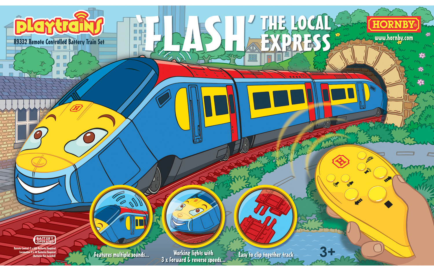 R9332 Hornby Playtrains Flash The Local Express Remote Train Set