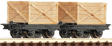 34603 Roco HOe Crate Wagons (Pack of 2)
