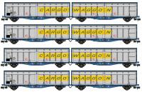 SB008L Revolution Trains IZA Cargowaggon Twin Bulk Pack in revised livery