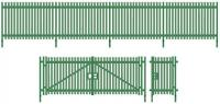 SSM316 Wills Modern Palisade Fencing and Gates.