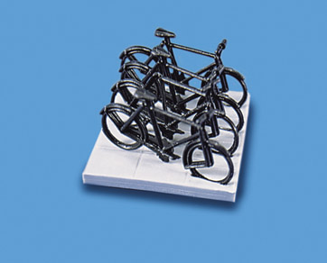 5055 model scene Cycles & Stand (Pack of 4 cycles & 1 stand)