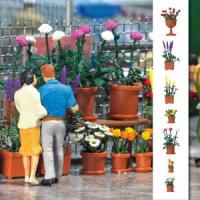 1209 Busch Flowerpot Set With Flowers