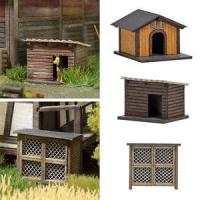 1522 Busch Rabbit Hutch & Two Dog Houses