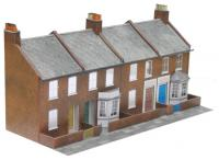 C6 Superquick Low Relief Four Redbrick Terrace Fronts