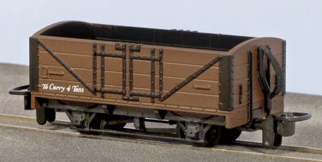 GR-201U Peco Open Wagon in painted unlettered brown livery
