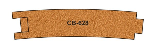 CB-628 Proses 10 X Pre-Cut Cork Bed for R628 Curve Track