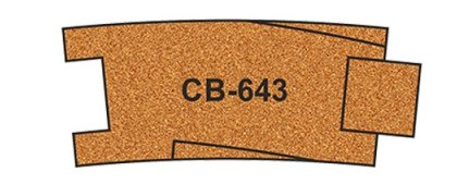CB-643 Proses 10 X Pre-Cut Cork Bed for R643 Curve Track