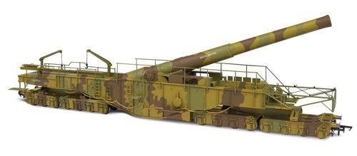 OR76BOOM03 Oxford Rail Gun WWI Boche Buster