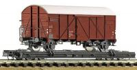 34598 Roco Transporter wagon with standard gauge van