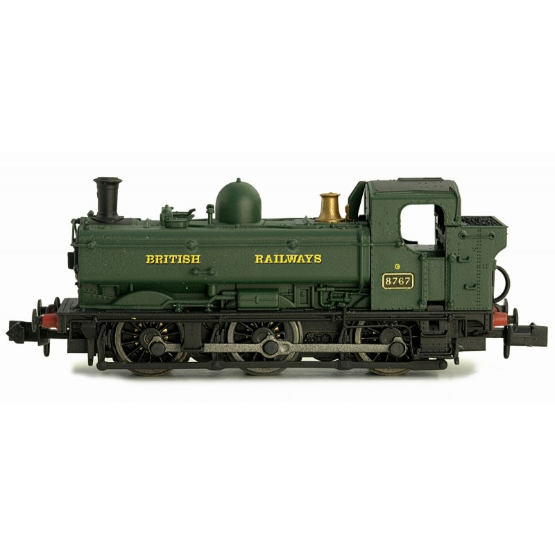 2S-007-016D Dapol 8750 Pannier Tank number 8767 in BR Green livery with BRITISH RAILWAYS lettering