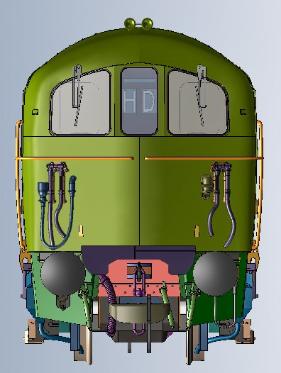 DJMOO74-002 DJ Models Class 74 Electro-Diesel Locomotive 74 003 in BR Blue livery with small full yellow ends