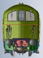 DJMOO74-004 DJ Models Class 74 Electro-Diesel Locomotive E6106 in BR Blue livery with small full yellow ends