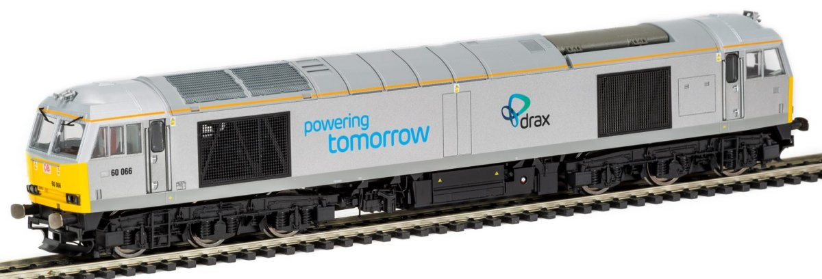 R3479 Hornby Class 60 Diesel Locomotive number 60 066 in Drax livery
