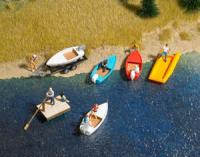 1157 Busch 6 Small boat set