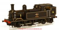"K2102 DJ Models 0-4-4T O2 Steam Locomotive number 16 named ""Ventnor"" in BR Black livery with late crest"