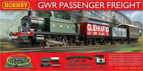 R1138 Hornby GWR Passenger Freight Train Set Image