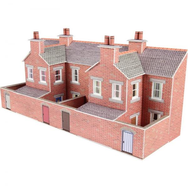 Pn176 Metcalfe Low Relief Terraced House Backs Red Brick Kit