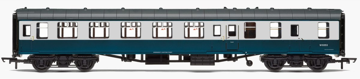 R4777 Hornby BR Mk1 Brake Second Open BSO Coach number W9353 in BR Blue and