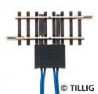 83151 Tillig TT Double track isolating section with 4 connectors 41mm